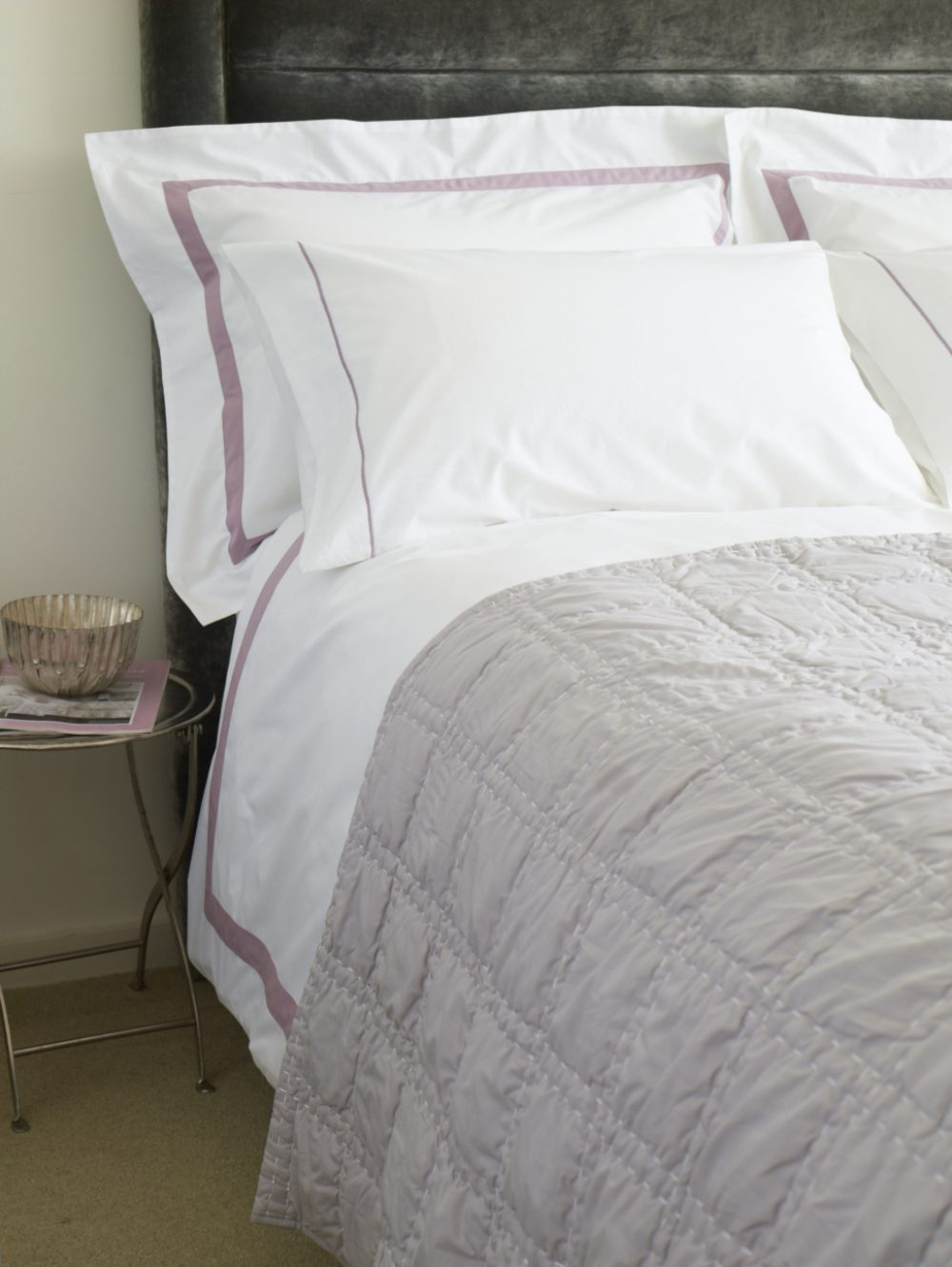 Double Shaped Duvet Cover - Milano Grey-0