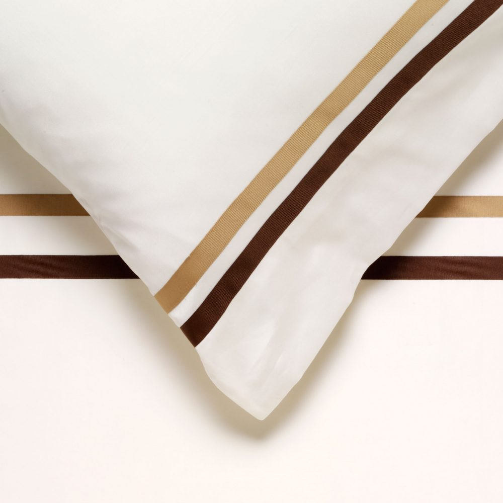 Single Shaped Duvet Cover - Portofino Naturelle-0