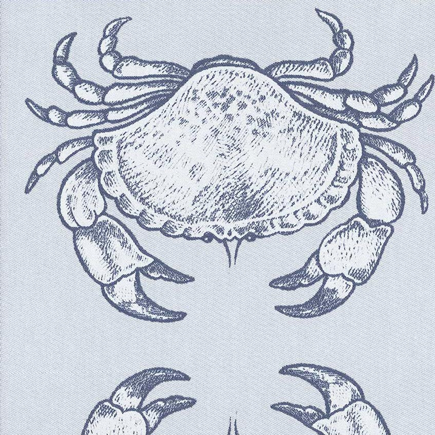 crab nautical tea towel